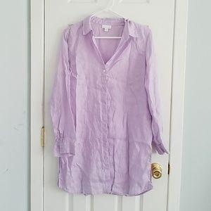 Linen Tunic Buttonup J. Jill S